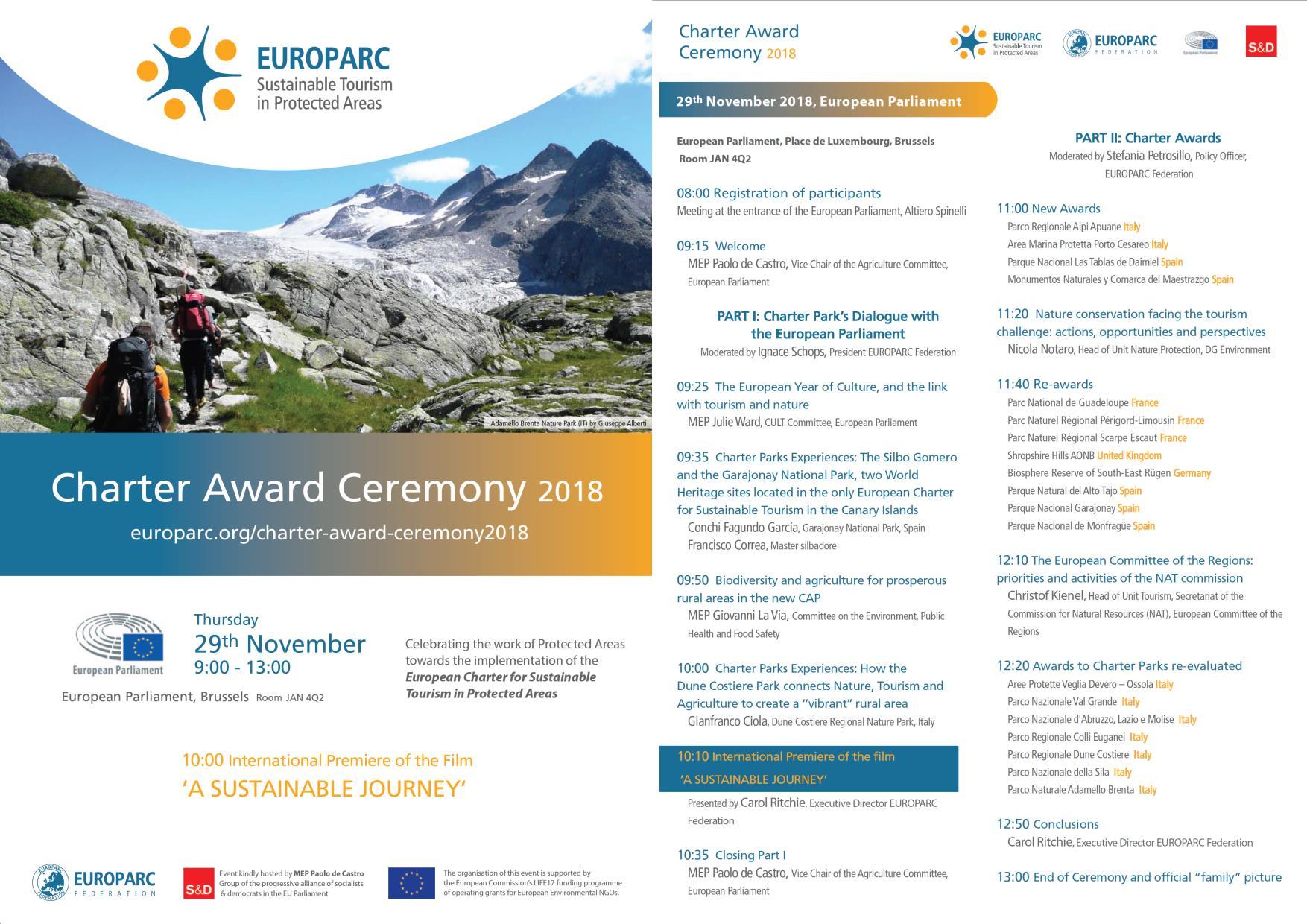 Charter Award ceremony